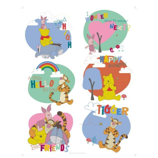 bebe gavroche stickers g ant b b winnie l 39 ourson disney multicolore pas cher achat vente. Black Bedroom Furniture Sets. Home Design Ideas