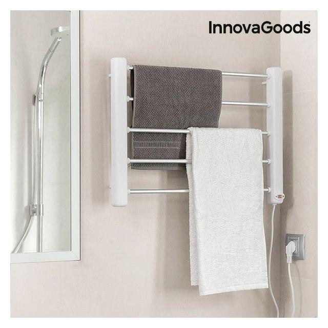 marque generique porte serviettes lectrique mural 65w blanc gris 5 barres seche serviette. Black Bedroom Furniture Sets. Home Design Ideas