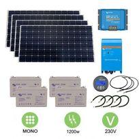 Victron - Kit solaire autonome 1200w - 230v monocristallin