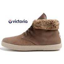 Victoria - chaussures safari cuir fourr?e taupe
