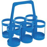 David - Porte-bouteilles plastique Eda Bleu maritime LxlxH 34x31x44cm 6 bouteilles