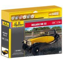Heller - Maquette voiture : Kit complet : Delage D8 Ss