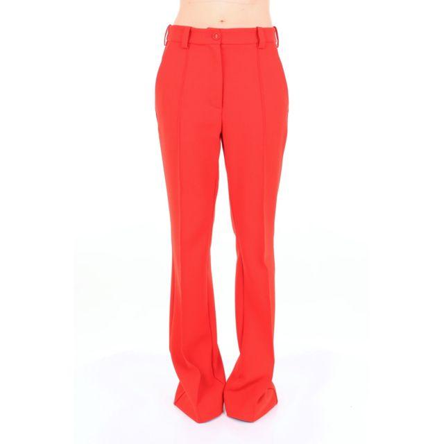 Erika Cavallini Femme P8A201CORAL Rouge Polyester Pantalon