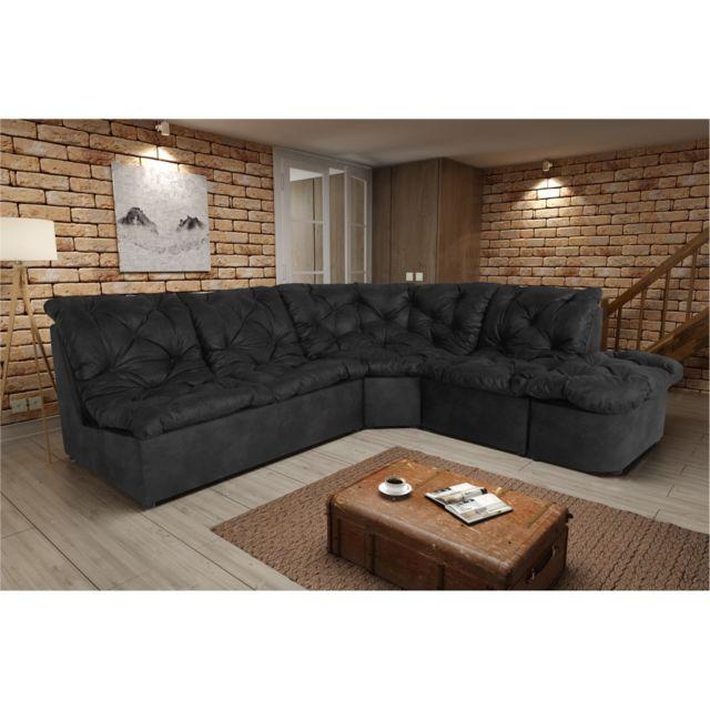 Rocambolesk Canapé Clac Lux 2A1P Tobago 17 antracite sofa divan
