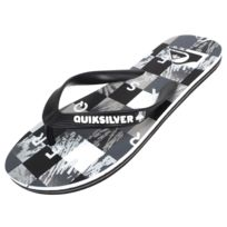 Quiksilver - Tongs claquettes Molokai check blk/grey jr Gris 79431