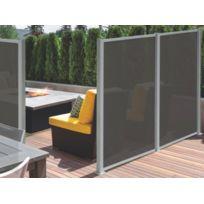 BRICOSOL - Extension pour palissade OSACO en textile et aluminium - Anthracite - L130 x H170 cm
