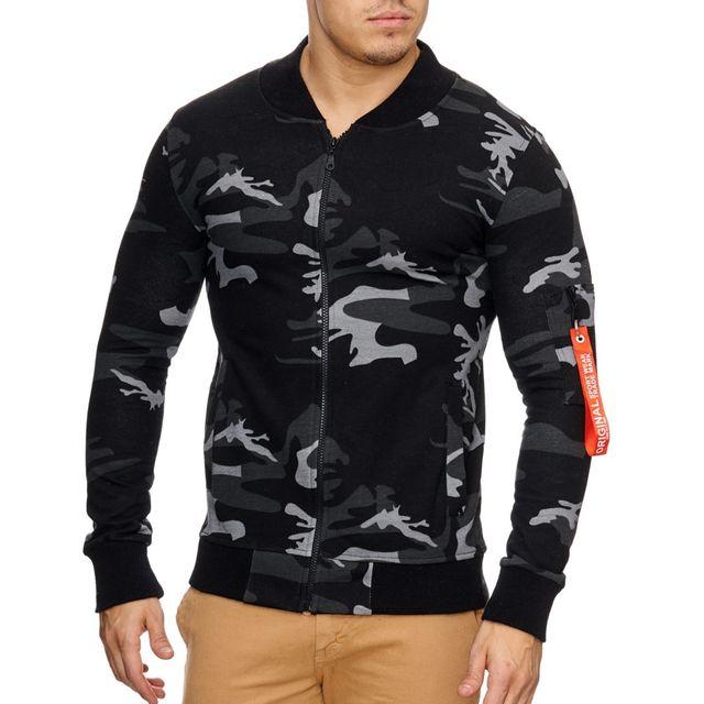 violento veste fashion impression camouflage veste homme 795 noir pas cher achat vente. Black Bedroom Furniture Sets. Home Design Ideas