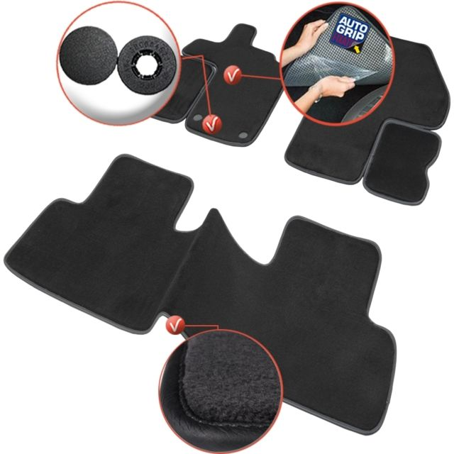 dbs tapis auto voiture sur mesure pour renault scenic 3 de 02 2009 12 2016 3 pi ces. Black Bedroom Furniture Sets. Home Design Ideas