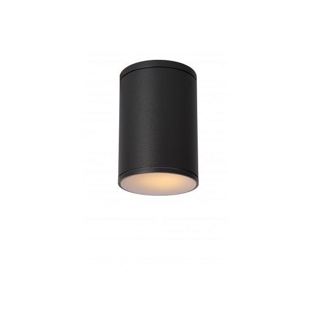 Lucide Spot Plafond Extérieur Tubix - D10,8 cm - Ip54 - Noir