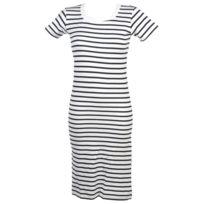 Elegance Oceane - Robe Cap2 robe blanc raye Blanc 36152