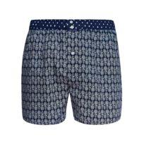 dd3ee156bba47 Arthur - Caleçon club coupe américaine en coton bleu marine à motif ananas  blancs