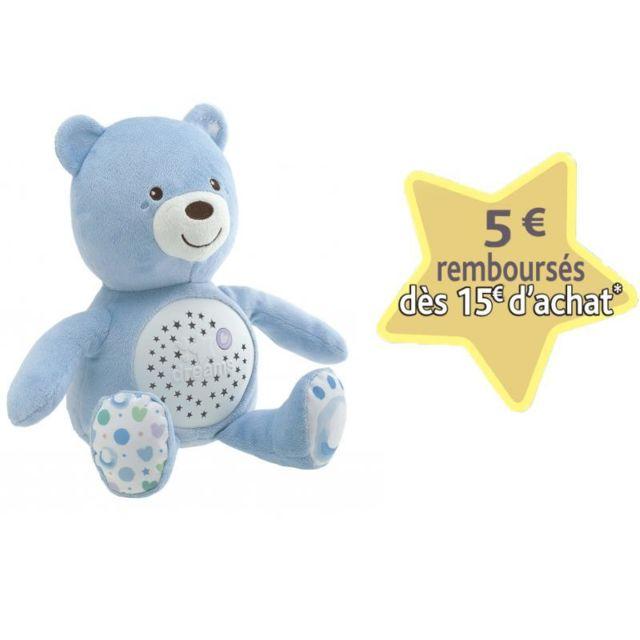 CHICCO Ourson projecteur Baby Bear Bleu - 8015200000