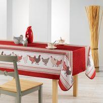 Couleur Montagne - Cdaffaires nappe rectangle 150 x 240 cm fils coupes imprime picoti