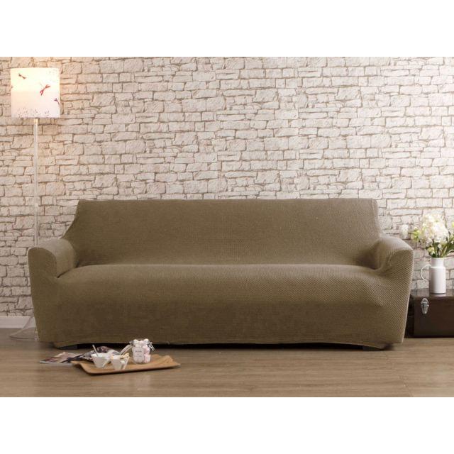 dlm housse de canap 2 places beige bi extensible lisa pas cher achat vente housses. Black Bedroom Furniture Sets. Home Design Ideas