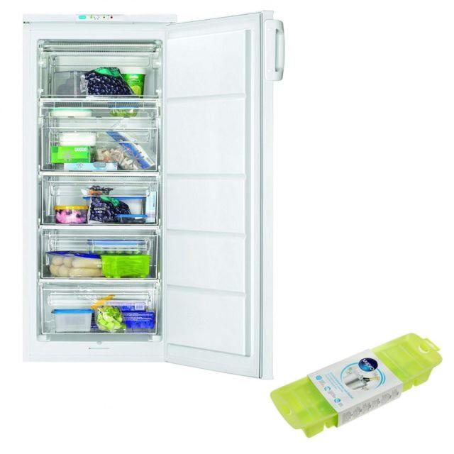 Faure Congélateur armoire vertical blanc A+ Froid Statique 168L autonomie 18h Super Congélation