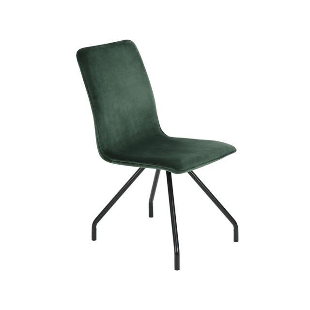 Capsull Design Chaise Majesty velours vert lot de 2 pas