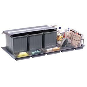 gollinucci poubelle de tiroir tri selectif a ouverture automatique pour meuble de 1200 mm. Black Bedroom Furniture Sets. Home Design Ideas