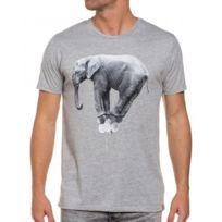 French Kick - T-shirt homme gris éléphant ballon