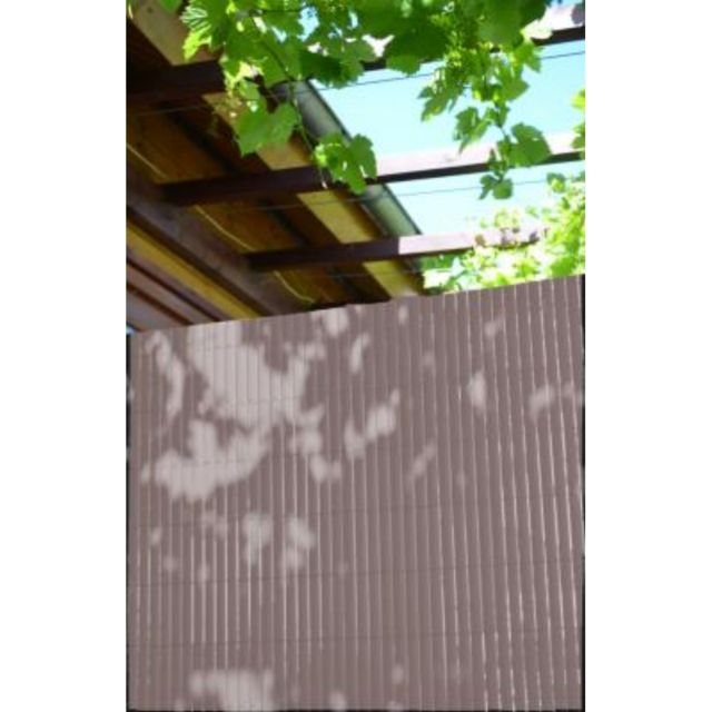 Canisse double face 1x3m taupe