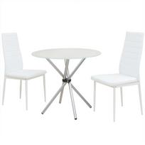 vidaxl ensemble de table et chaise salle manger 3 pices