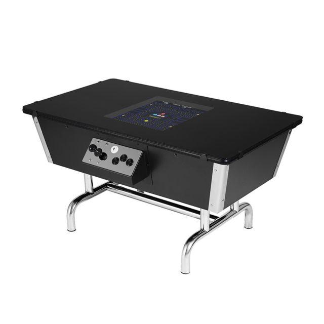 Neo Legend Table 80s noire chromée - Jeux d'arcades