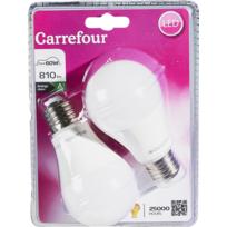 CARREFOUR - Lot de 2 ampoules LED Standard 10 W E27