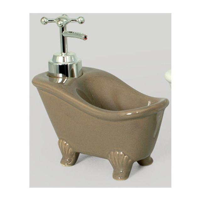 distributeur de savon en forme de baignoire taupe. Black Bedroom Furniture Sets. Home Design Ideas