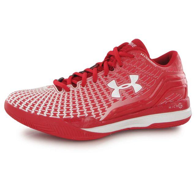 Clutchfit Drive Low rouge, chaussures de basketball homme