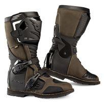 Falco - bottes moto route & tout terrain 415 Avantour d3o étanche marron T 47 Fr