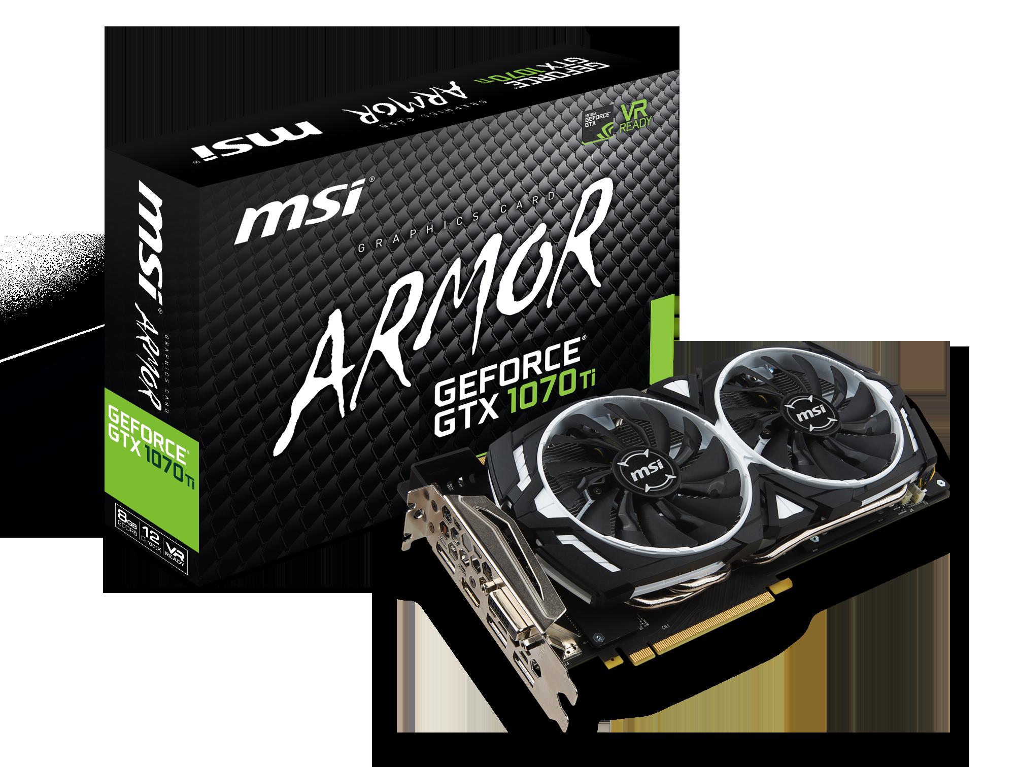 GeForce GTX 1070 Ti ARMOR - 8Go