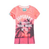 Superdry - T-shirt Photographic Entry Pink Neon Marl