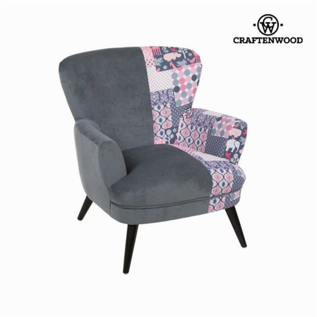 Craftenwood Fauteuil avec accoudoirs patchwork by