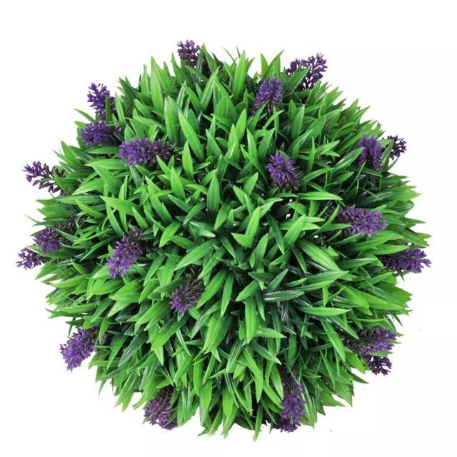 Icaverne - Fleurs et plantes artificielles famille 2 boules de lavande artificielle 36 cm