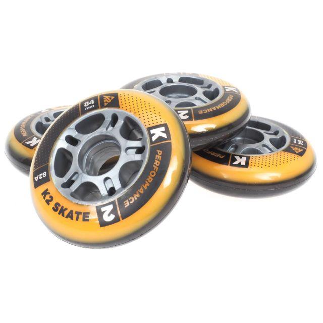 k2 roues de roller performance 84mm 82a noir 27127 pas cher achat vente roue roller. Black Bedroom Furniture Sets. Home Design Ideas