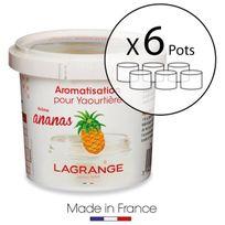 Lagrange - Lot de 6 pots d'aromatisation pour yaourts Ananas