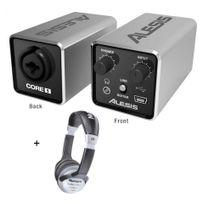 Alesis - Pack Core 1 - Interface audio 1 entrée/1sortie casque + Casque