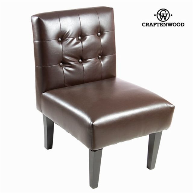 Craftenwood Fauteuil similicuir marron - Collection Relax Retro by Craften Wood
