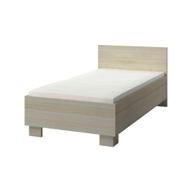 TERRE DE NUIT Lit enfant en bois frêne clair 90x200 - LT4024