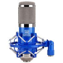 Pronomic - Cm-100B Micro à Grosse Membrane de Studio incl. suspension & Protection Anti-Vent, bleu