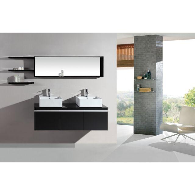 Concept Usine Ensemble Meuble Salle De Bain Neree 2 Vasques 2 Miroirs