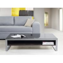 Beliani - Table basse - table de salon - acier inox et ébène vernis - Amadora