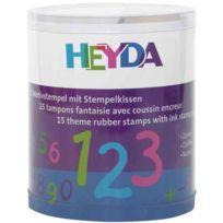 """Heyda - Kit De Timbres À Motifs """"CHIFFRES"""", Boite Transparente 204888478"""