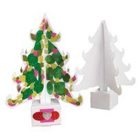 Gribouill'ART - sapins en carton blanc à décorer - lot de 10