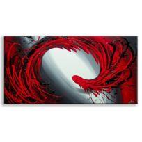 Deco Soon - Tableau Peinture Rouge Abstrait