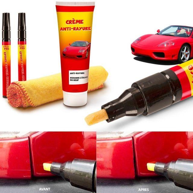idmarket kit 2 stylos et gel efface rayures carrosserie auto pas cher achat vente efface. Black Bedroom Furniture Sets. Home Design Ideas
