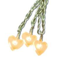 Xmas Living Glass - Heart - Guirlande 20 Coeurs lumineux Led Blanc 5,3m - Guirlande et objet lumineux designé par