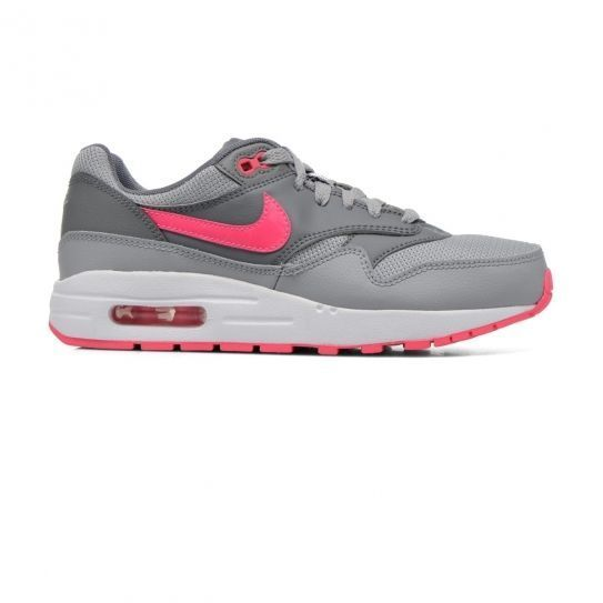 275d144f010 Nike - Chaussures Air Max 1 Jr Girl Grey Pink e16 - pas cher Achat   Vente  Baskets enfant - RueDuCommerce