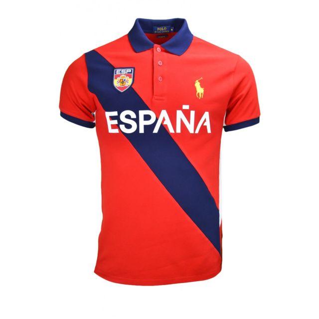 Ralph Lauren - Polo Espagne Jo 2016 rouge pour homme - pas cher Achat    Vente Polo homme - RueDuCommerce 26adf48c9829