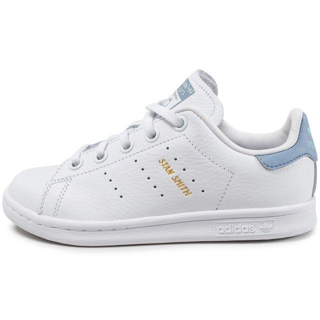 d265141247 Adidas originals - Stan Smith Enfant Blanche Et Bleu Pastel 33 - pas ...