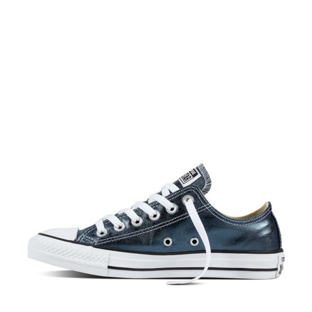 Femme Baskets mode | Converse CHUCK TAYLOR ALL STAR METALLIC CANVAS HI Bleu Blanc Noir